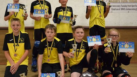 The Skaters Scorpions under 13's team who were crowned league champions last season. Picture: JON DA