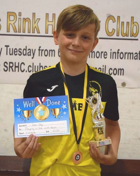 Jake Day after winning the under 13's coaches' player and players' player awards. Picture: JON DAY