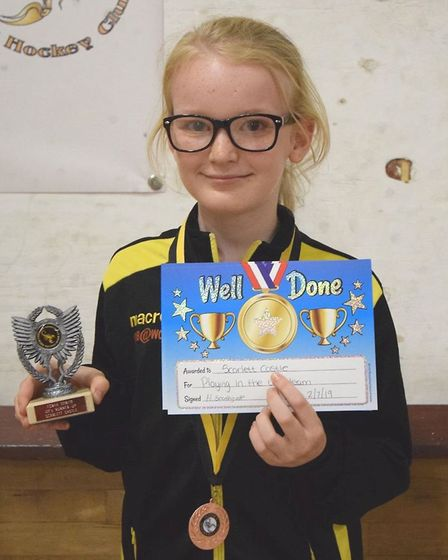 Scarlett Castle was named the league team player and joint under 11's players' player. Picture: JON