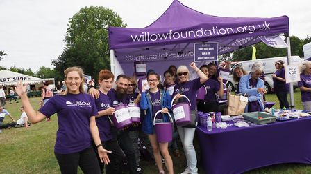 Willow volunteers at Folk by the Oak 2019 at Hatfield House. Pictures: John Andrews