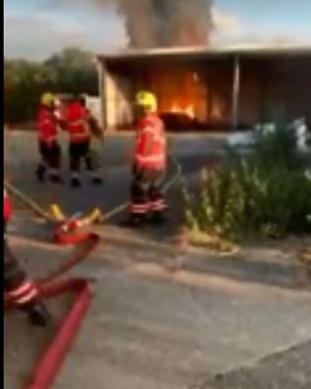 Fire crews tackled a blaze at the olld Delamore site in Sutton Road, Wisbech, last night.. Picture;