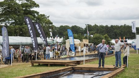 Casting pools at The Game Fair at Hatfield House in 2017.