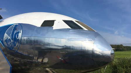 The Air France DH106 Comet1A at the de Havilland Aircraft Museum. It is the only remaining example o