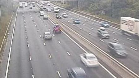 All lanes have reopened on the M25 following an earlier crash clockwise near Junction 24 for Potter