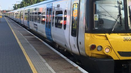 Fewer trains are able to run between Hertford North and Moorgate due to a train being vandalism. Pic