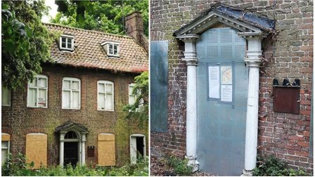 Wisbech's historic Ely House is closed off ahead of court order. Picture: FENLAND DISTRICT COUNCIL/