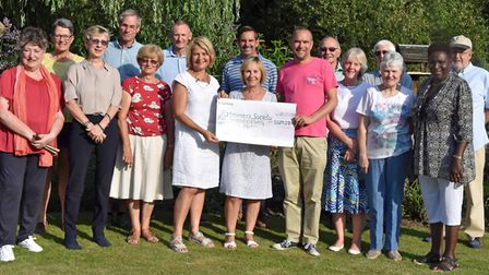 The Wisbech St Mary Open Gardens event blossomed to success after raising £5,029.28 for the Alzheime