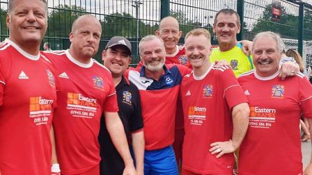 Members of the Wisbech Town Walking Football team who were semi-finalists at the weekend. Picture: F