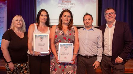 Finalists, Carer of the year presented by Manager Marcia Tonkin of B & M Care Homes. Picture: Cathy