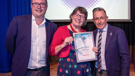 Carol Young, Charity Champions, presented by Cllr Lenny Brandon of Hatfield Town Council. Picture: C