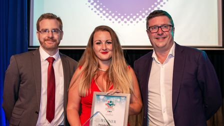 Danielle Wainhouse, Service to the community, presented by Co Managing director and solicitor Robert