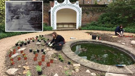 A lost Victorian garden feature is being restored by a team at Peckover House in Wisbech but they s