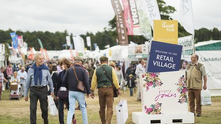 The Game Fair retail village. The festival of the great British countryside returns to the grounds o