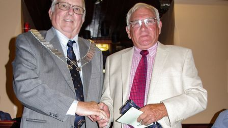Edward Mann, a retired farmer, was inducted as a new member of the Wisbech Business and Professional