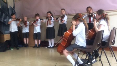 School pupils in Cambridgeshire have the opportunity to learn a musical instrument. Townley Primary