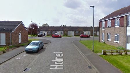 Two arrests in Wisbech after spate of 26 burglaries in four months. Pictured is Holmes Drive. Pictur