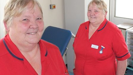 Marilyn Padget (pictured) of the North Cambs Hospital and The Queen Elizabeth Hospital is hanging up