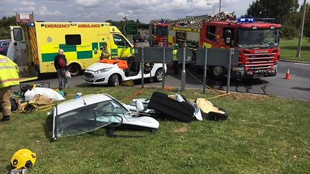 Fire crews from Wisbech and Outwell attended a road traffic collision yesterday (August 8) at South