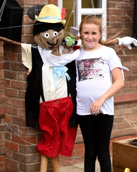 The Emneth scarecrows came out in full force this weekend dressed as a policeman, hedgehog - and eve