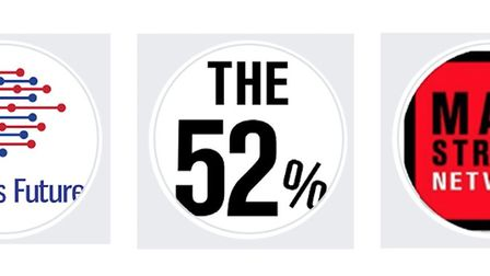 Britain's Future, Mainstream and We Are The 52%, are all pro-Brexit Facebook pages, all reported hav