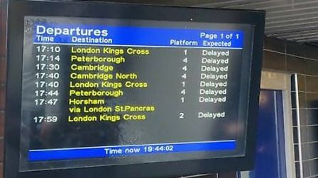 Commuters were left stranded for hours following a massive power cut. Picture: James Acraman.