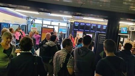 Many commuters had to rely on expensive taxis to return home. Picture: James Acraman.