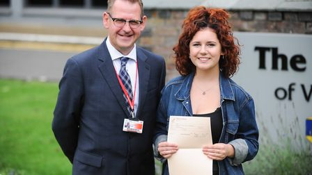 More than two thirds of A-Level students at the College of West Anglia in Wisbech have achieved A*-C