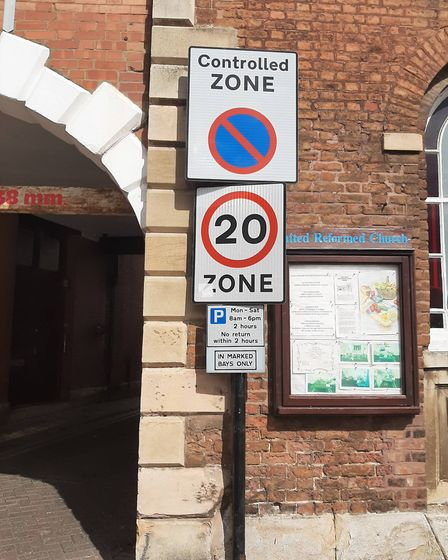 The 'Controlled Zone' in Wisbech town centre where 14 parking tickets were issued in just one mornin