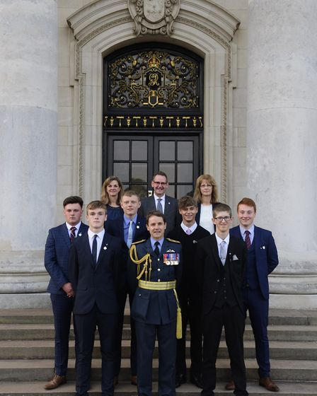 Air & Defence College graduation ceremony held at RAF Cranwell, Lincolnshire. Picture: Chris Vaugha