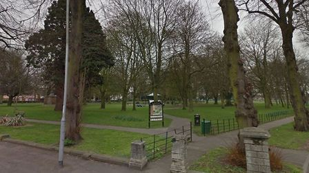 An egg was thrown at police officers while dealing with a man who had drugs on him in Wisbech Park.