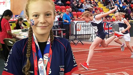 Amelia Green, aged 11 of Walpole St Andrew (pictured), scooped a haul of medals at this years World