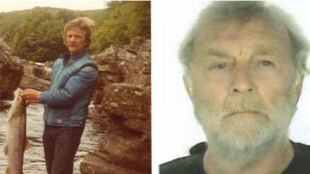 John Allan of Murow, now and when he was younger.. John's wife washed his work overalls for 25 years