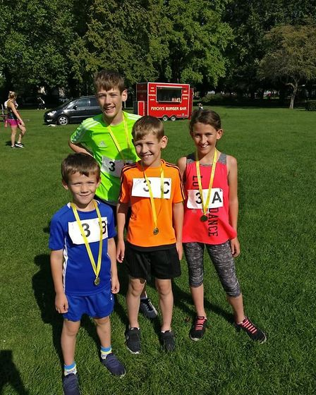 The Wilsons won the under-16s relay race at the Three Counties RC Summer Relays in Wisbech Park