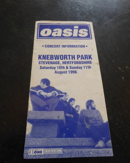 Oasis concert guide for the band's 1996 Knebworth gigs