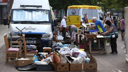 Sunday August 25, car boot sale Wisbech: Taken on a lovely summer day, this was the scene early on d