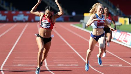 Jodie Williams wins the Women's 200m during day two of the Muller British Athletics Championships at