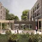 A view of the proposed new courtyard in the Minster Close application. Picture: WHBC
