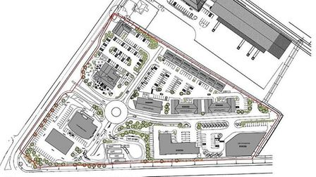 Wisbech Gateway: Map of the proposed development on the 9 acre site at Wisbech that will include a h