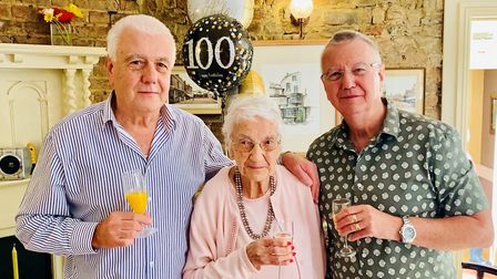 It was a stylish occasion to mark the 100th birthday of Joan Kierman who celebrated with family and