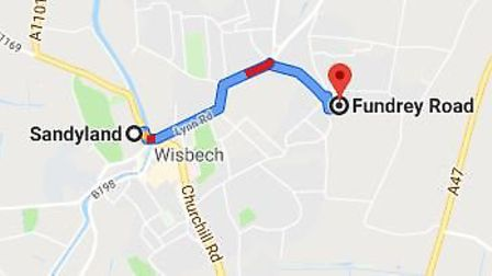 Fundrey Road in Wisbech where another arson attack took place in the town on Tuesday, September 10 i