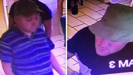 Two men have been spotted using fake 50 notes to buy food in Norfolk and police would like to speak