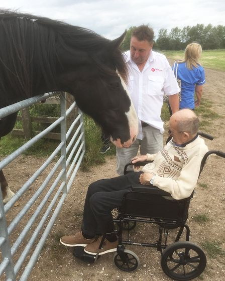 Lyncroft Care Home resident John Ward, a well known figure in Wisbech, enjoyed a day out to visit hi