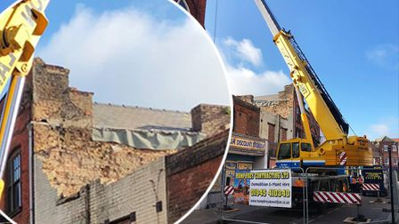 High Street in Wisbech will be closed for up to five days as urgent work continues on a Grade II-lis