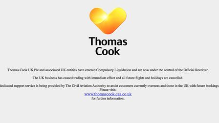 Travel firm Thomas Cook is now in liquidation. Picture: Web/Archant