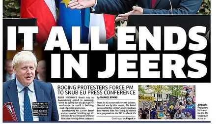 Front page to the Metro. Photograph: Twitter.