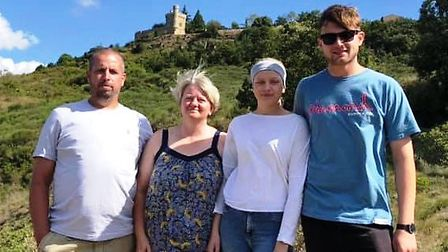 Anna Norris with her family on a break in France. She is now cancer free after battling Hodgkin's ly