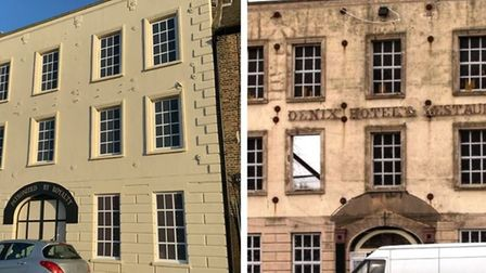Historic former Phoenix Hotel in Wisbech has had a £6,000 facelift nine years after devastating bla
