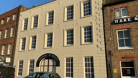 Facade of the fire gutted Phoenix in Wisbech has been given a face lift. Picture; KIM TAYLOR