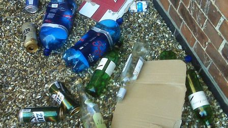 Controls on alcohol sales in Wisbech to remain despite fears from town council. Pictured are empty a