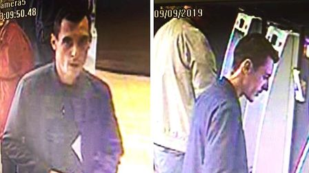 Do you recognise this man pictured in these CCTV images? Police want to speak to him in connection w